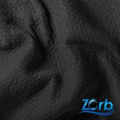 Zorb® 3D Organic Cotton Dimple Fabric Black - By the Roll