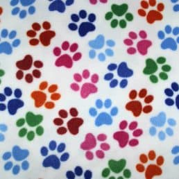 White Rainbow Dog Paw Anti Pil Polar Fleece