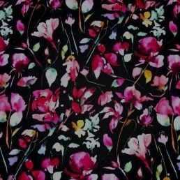 Midnight Meadow Cotton Jersey Fabric