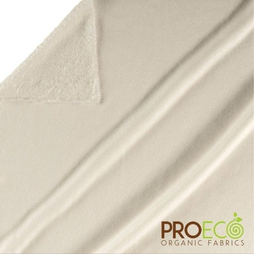 ProECO® Bamboo Loop Terry Towelling - Natural White