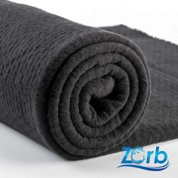 Zorb® 3D Organic Cotton Dimple Black Fabric with SILVADUR™