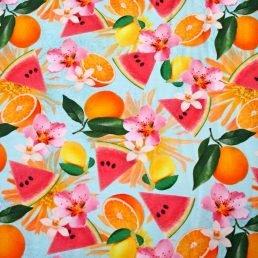 Fruits Cotton Jersey Fabric