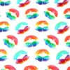 Rainbow Lipstick Cotton Jersey Fabric