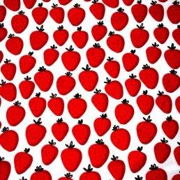 Strawberry Cotton Jersey Fabric