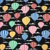 Hot Air Balloons Night Flight Cotton Fabric
