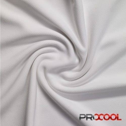 ProCool® Stretch-FIT Dri-QWick™ Sports Jersey Fabric with 1-Way-Wicking™ and COOLMAX® White