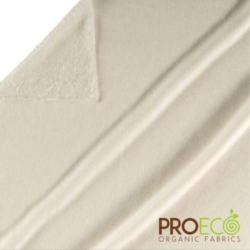ProEco® Bamboo Loop Terry Towelling - Natural White - By the Roll