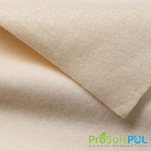 ProSoft® Stretch-FIT Organic Cotton Fleece Waterproof 1 mil PUL Natural