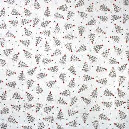 Christmas Tree Sketch Cotton