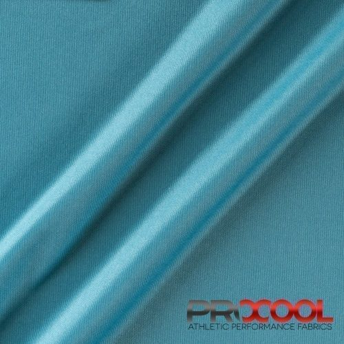 ProCool Athletic Interlock Fabric with SILVADUR COOLMAX Denim Blue