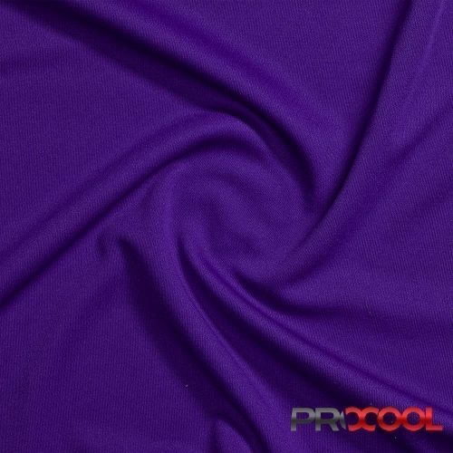 ProCool Athletic Interlock Fabric with SILVADUR COOLMAX Purple