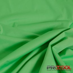 ProCool Athletic Interlock Fabric with SILVADUR COOLMAX Spring Green