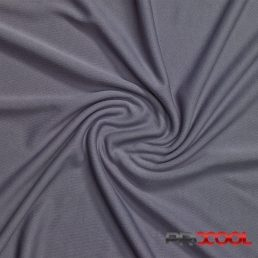 ProCool Athletic Interlock Fabric with SILVADUR COOLMAX Stone Grey