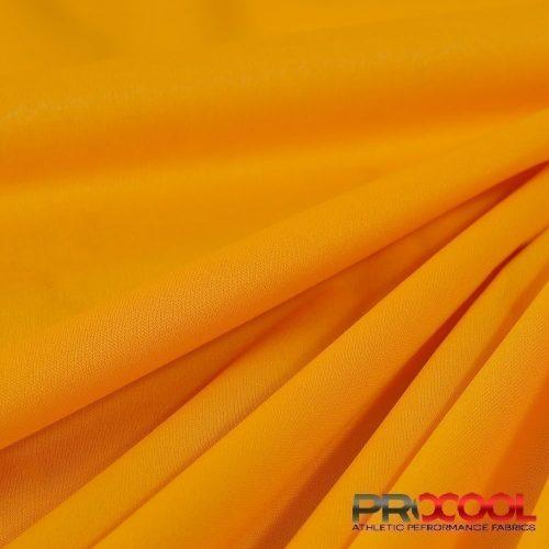 ProCool Athletic Interlock Fabric with SILVADUR COOLMAX Sun Gold