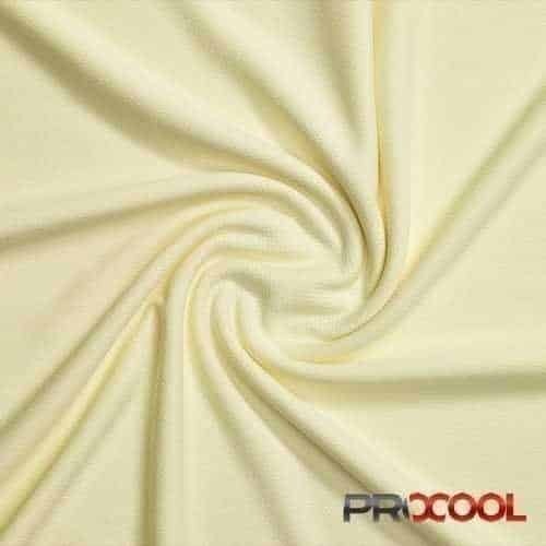 ProCool Athletic Jersey Mesh Fabric with COOLMAX Baby Yellow