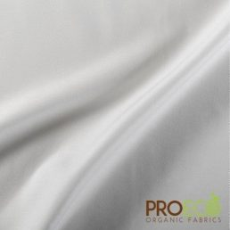 ProECO Organic Cotton Twill Antimicrobial Fabric with SILVADUR White