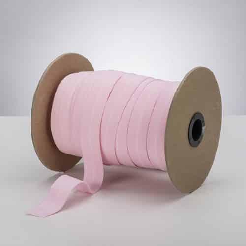 ProStretch Plush Fold Over Elastic (FOE) - Latex Free - 1 inch - Baby Pink