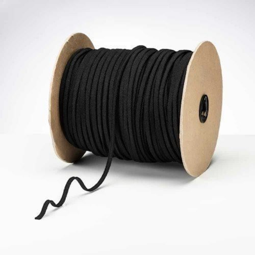Latex Free 5mm ProStretch™ Plush Knitted Elastic Black