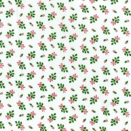 Holly Christmas Cotton Fabric