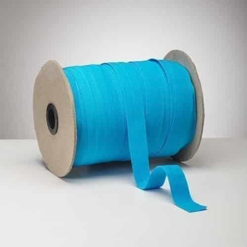 Latex Free 25mm ProStretch™ Plush Fold Over Elastic (FOE) - Aqua