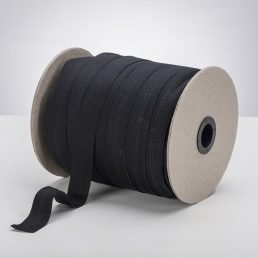 Latex Free 25mm ProStretch™ Plush Fold Over Elastic (FOE) - Black
