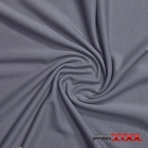 ProCool® Athletic Jersey Mesh Fabric with COOLMAX® Stone Grey