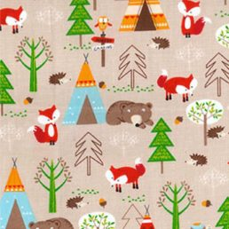 Forest Critters Autumn Cotton Fabric
