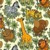 Jungle Friends Cotton Fabric