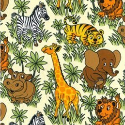 Jungle Friends Cotton Fabric