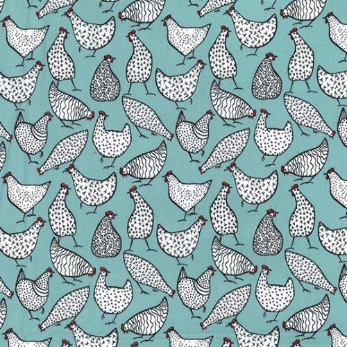 Hens Duckegg Cotton Fabric
