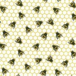 Honeycomb Ivory Cotton Fabric