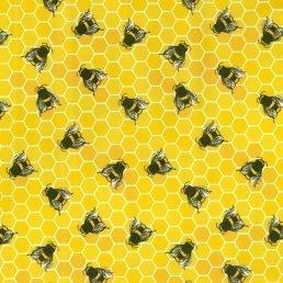 Honeycomb Yellow Cotton Fabric