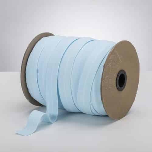 Latex Free 25mm ProStretch™ Plush Fold Over Elastic (FOE) - Baby Blue