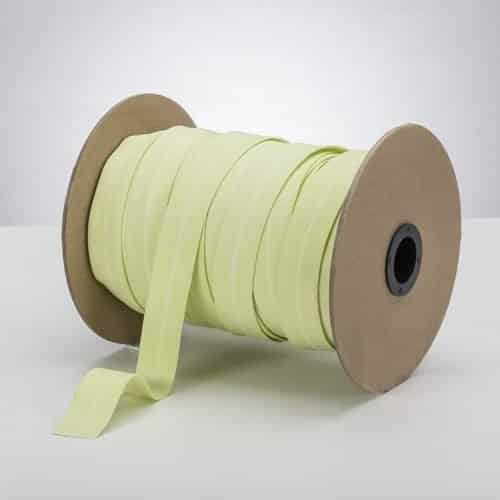 Latex Free 25mm ProStretch™ Plush Fold Over Elastic (FOE) - Celery