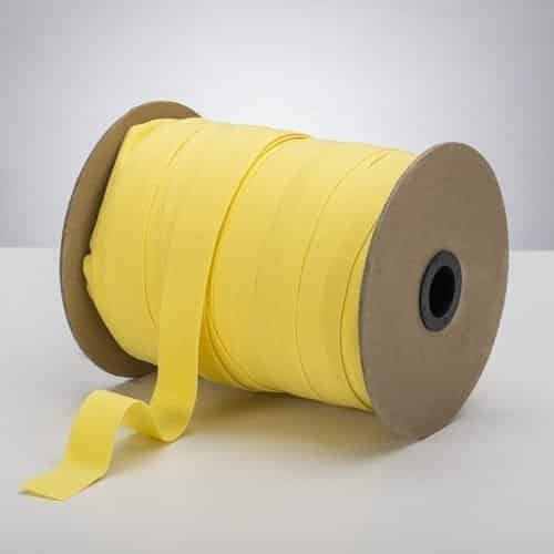 Latex Free 25mm ProStretch™ Plush Fold Over Elastic (FOE) - Citron Yellow