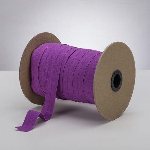 Latex Free 25mm ProStretch™ Plush Fold Over Elastic (FOE) - Rich Orchid