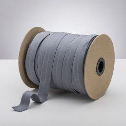Latex Free 25mm ProStretch™ Plush Fold Over Elastic (FOE) - Stone Grey