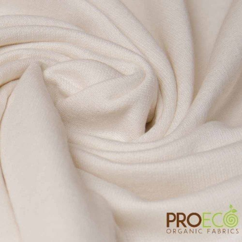 ProEco® Organic Cotton French Terry Fabric Natural