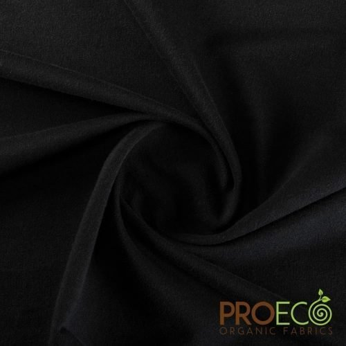 ProEco® Organic Cotton French Terry with Antimicrobial Silvadur™ Black