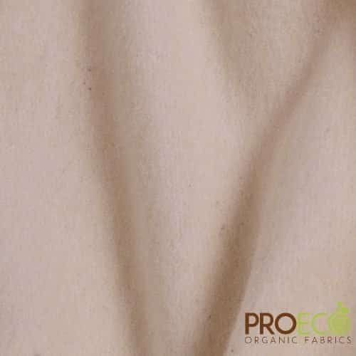 ProEco® Stretch-FIT Organic Cotton Fleece Fabric Natural
