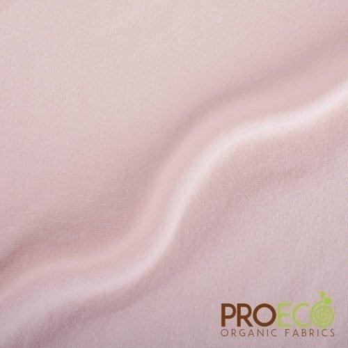ProEco® Stretch-FIT Organic Cotton Jersey Lite Fabric Rose Smoke