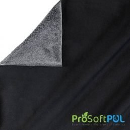 ProSoft® Stretch-FIT Organic Cotton Jersey Waterproof 1 mil PUL Fabric Black