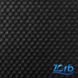 40cm x 150cm Zorb® 3D Organic Cotton Dimple Black with Antimicrobial Silvadur™
