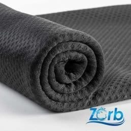 45cm x 150cm Zorb® 3D Bamboo Dimple Black with Antimicrobial Silvadur™