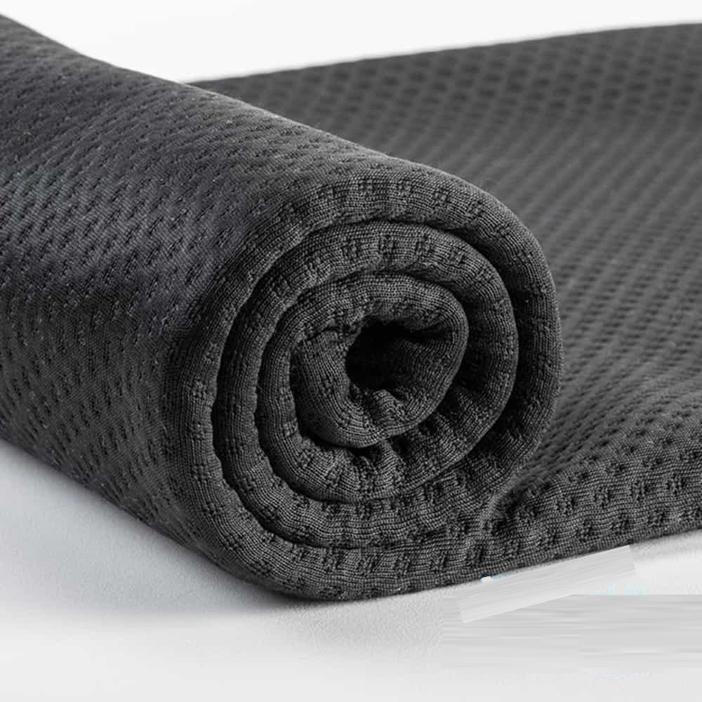 Zorb® 3D Organic Cotton Dimple with Antimicrobial Silvadur™ Black - By the Roll