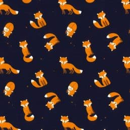 Foxes Cotton Fabric