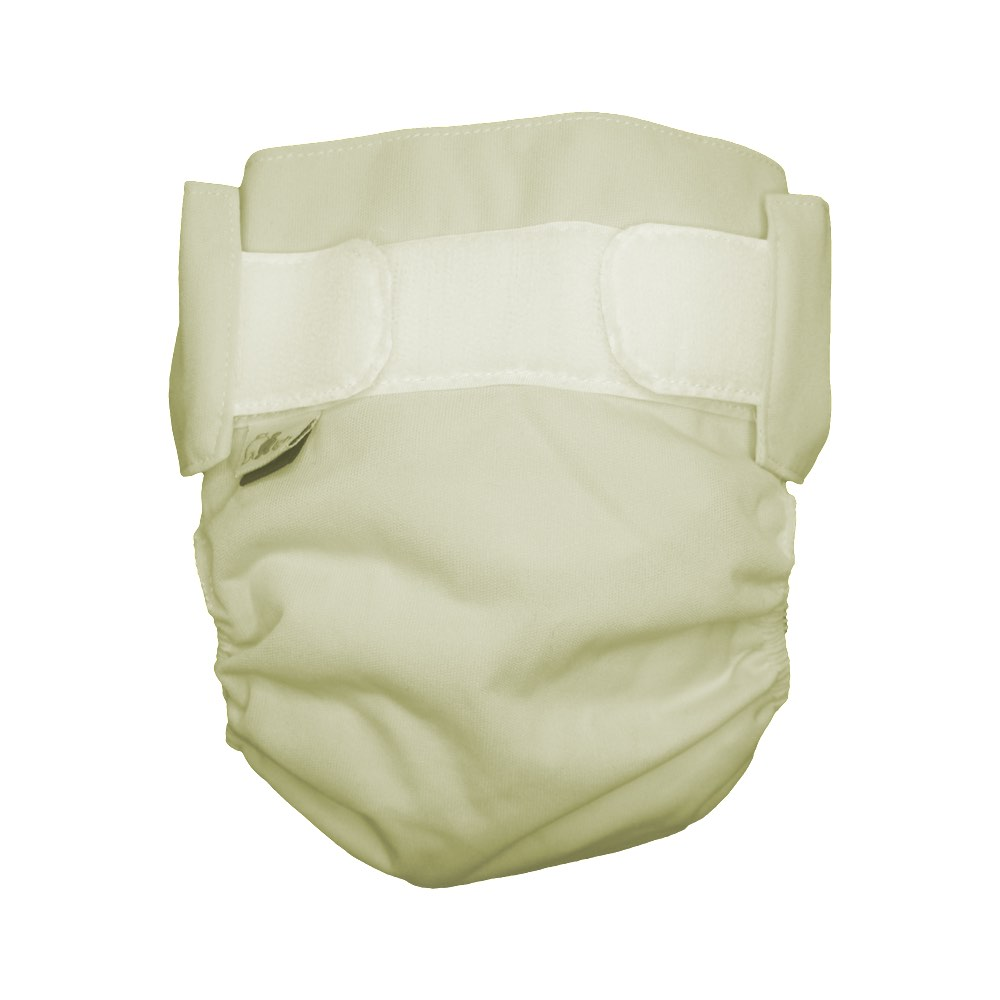 Medium Little Green Bear Cloth Nappy and Cover Butter Yellow