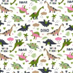 Wild Friends Cotton Fabric