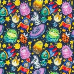 "Alien Invasion Cotton Fabric (60"" wide)"