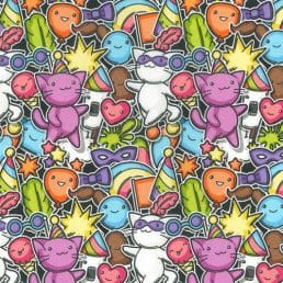 """Cool Kitty Cotton Fabric (60"""" wide)"""